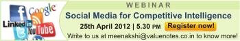 Webinar Social Media For Competitive Intelligence