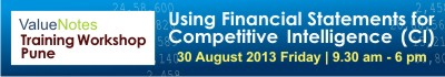 ValueNotes Training Workshop - Using Financial Statements for Competitive Intelligence