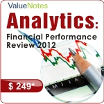 Analytics - Financial Performance Review 2012